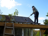 Das Dach vom Katzenhaus